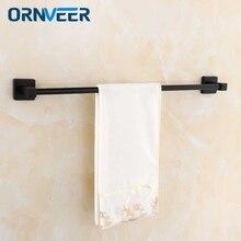 Ванная комната квадратный один полотенцесушитель 60 см матовый нержавеющий черный полотенцесушитель набор держатель Полка Настенная фурнитура с настенным креплением
