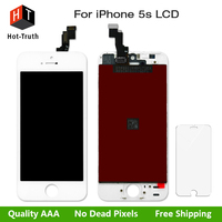 Hot Truth LCD Display For IPhone 5S Touch Screen Digitizer Assembly LCD Replacement AAA Quality Tempered