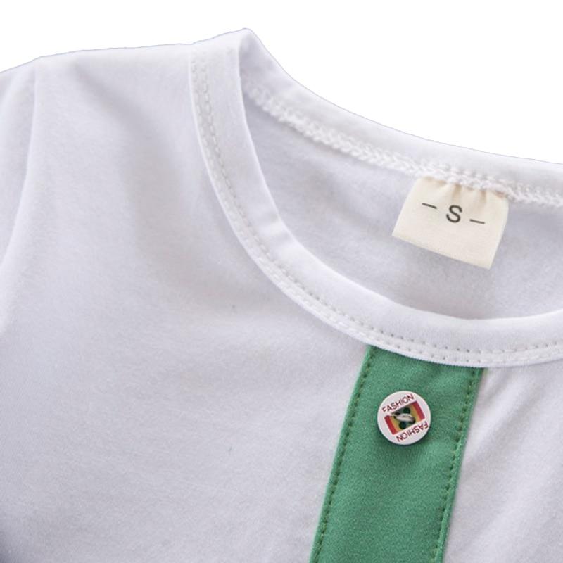 2018 letnie chłopcy dziewczęta odzież dziecięca T-shirt + - Ubrania dziecięce - Zdjęcie 4