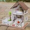 Кукольные домики Кукольный Домик Миниатюре Romatic Париж Квартира Идеально Подходит Модель Деревянная Вилла Собраны Рождественские Подарки Мебель Деревянные Игрушки