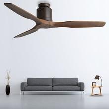 52 дюймов деревянный потолочный вентилятор деревянный с пультом дистанционного управления потолочные вентиляторы без светильник Ретро Вентилятор энергосберегающий вентилятор