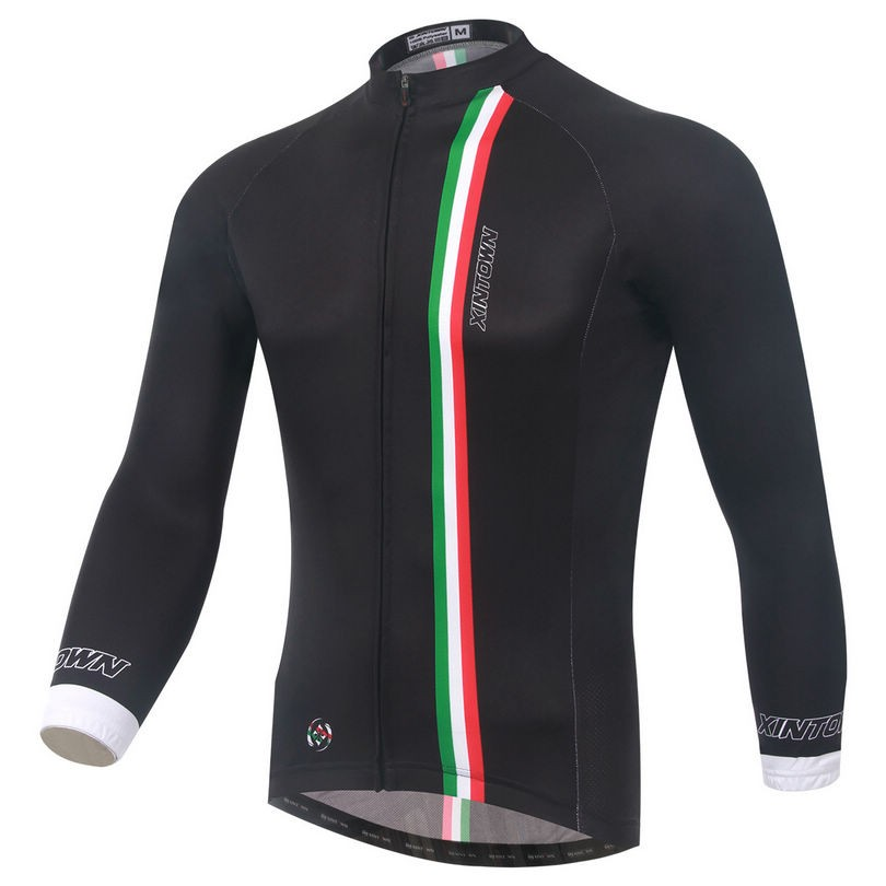 Popular XINTOWN Bike Long jersey Black MTB Team Cycling clothing Riding Bicycle Top Wear Men Maillot Long Sleeve Shirts