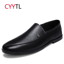 CYYTL 2019 Brand Leather Men Loafers Spring Casual Fashion Soft Slip on Moccasins Driving Shoes Male Flat Breathable Summer Shoe все цены
