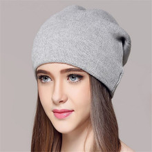 Brand New Unisex caps Knitted Wool hats For Winter Autumn Hip-hop Style Hot Sale Gorros For Women good quality casual caps