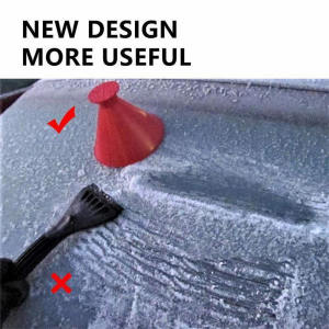 Glass Wiper Snow-Remover-Tool Window-Cleaner Cone-Shaped Scrape Magic Round Funnel