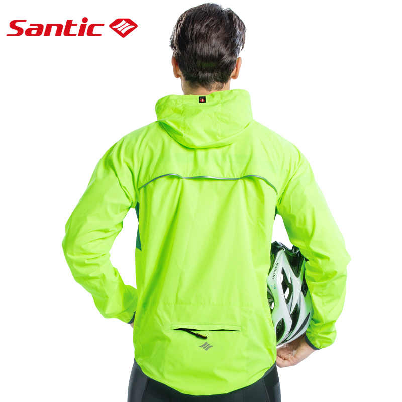Santic Men Cycling Skin Coat Windbreakers  Sun Protective UPF 50+ Cycling Jackets Breathable Asian size K7M6034V