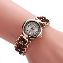 Fashion Leisure High Quality Woman Watch  Women Knitting Rope Chain Winding Analog Quartz Movement Wrist Watch