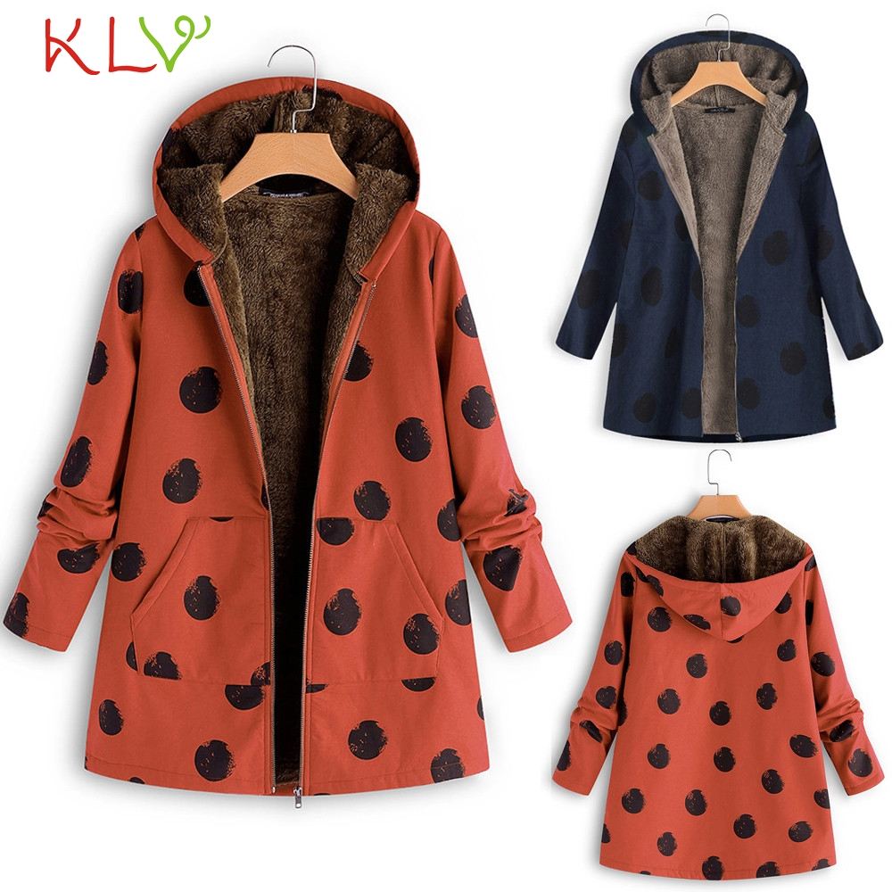 Women Jacket Winter Oversize 2018 Hooded Floral Pocket Long Plus Size Ladies Chamarra Cazadora Mujer Coat For Girls 18oct24 Jackets & Coats