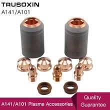 Olmayan orijinal A141 plazma torç sarf malzemeleri kiti 4 adet kesme elektrot memesi ucu kalkanı PR0101 PD0101 PC0101 PE0101 CV0011