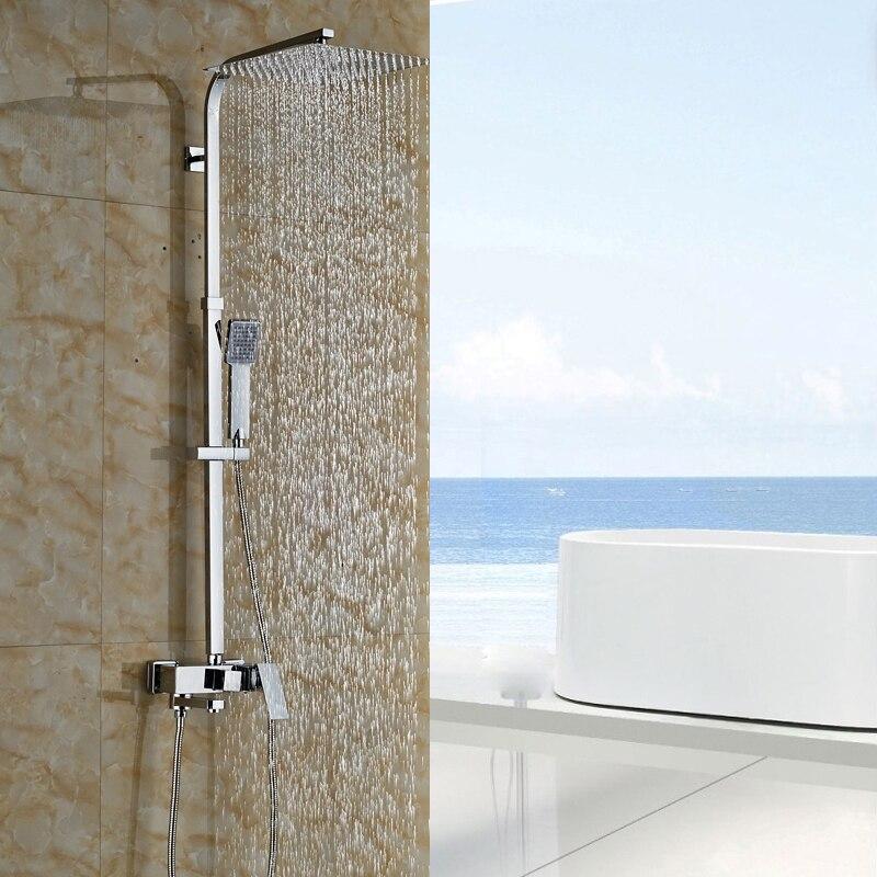 chrome 81012 montaggio a parete esterna doccia a pioggia rubinetto del