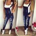 2017 весной и летом горячей плечевые ремни с отверстия в джинсах женских бутик женщин мода повседневная ковбой кусок брюки A3689