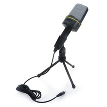SF-920 Original Estéreo Profesional Wired Micrófono de Condensador Con Soporte Del Sostenedor Del Clip Para PC Charlando Cantar Karaoke Portátil