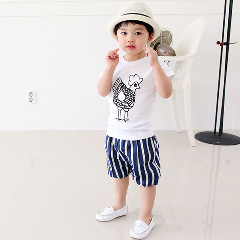 2-7Y-Kids-Toddler-Boys-Short-Sleeve-Cotton-T-shirt-Summer-Pullover-Tee-Tops-B998-1