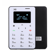 Original aiek/aeku x6 setzte ultradünne mini-karte telefon student mini handy low radiation in lager