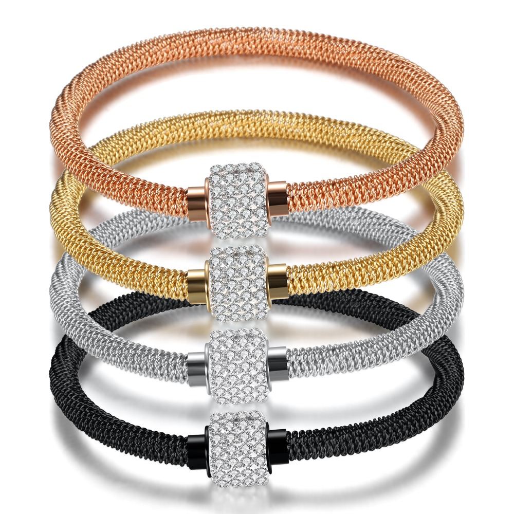 Fashion High quality Charm Chic valentine Gift Jewelry Stainless Steel Gold Women Distort Bracelets Bangles drop shipping high quality natural green dongling jades bangles bracelets round bangles gift for fashion elegant women jewelry