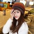 Женщины новинка шапки картины твист женщины зимняя шапка вязаный свитер мода шапки для женщин 4 цветов gorros