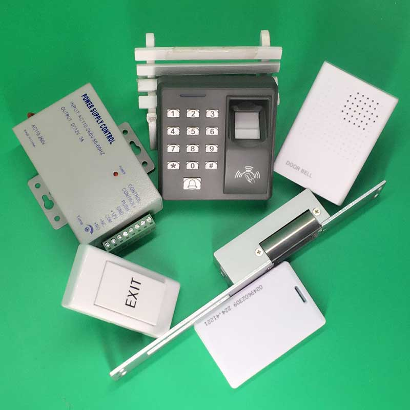 Single Door Fingerprint and RFID Card Access Control + NO Electric Strike Lock Door Access Control System Kit for Office / House biometric fingerprint and rfid access control fingerprint time attendance and access controller door access control lock