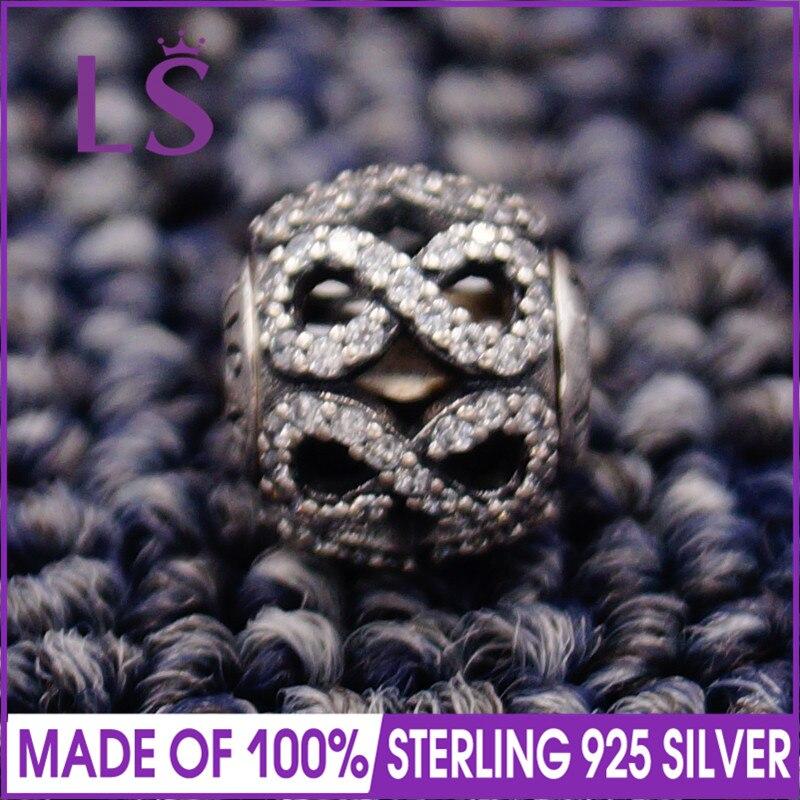 LS High Quality 100% S925 Silver Essence Dedication Charm Beads Fit Original Essence Bracelets Pulseira Essencia.Fine Jewlery