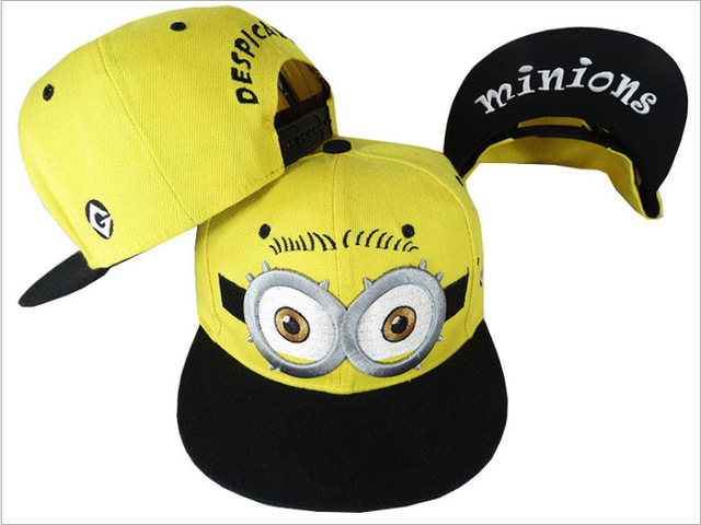 Frete grátis verão dos desenhos animados Minions crianças meninos chapéus  pico bonés boné de beisebol chapéus 1a0142eef8c