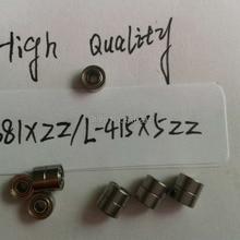 100 шт Высокое качество 681XZZ Глубокие шаровые подшипники/подшипники двигателя 681XZZ(1,5*4*2 мм) высокоскоростные подшипники