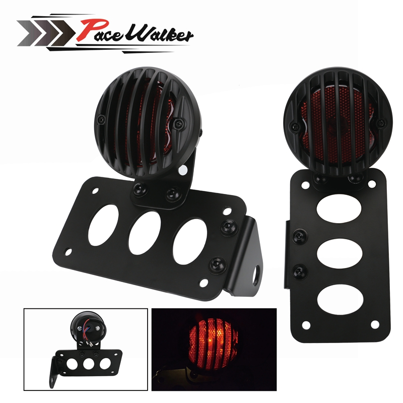 Free shipping Motorcycle High Quality Side Mount Horizontal Vertical Tail Light Holder License Plate Bracket Taillights Support aftermarket free shipping motorcycle parts black curve license plate tail brake light fit for side mounted