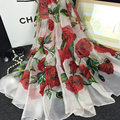 Fashion New Women Soft Silk Scarf Shawl Beach Towel Printed Rose Flower Chiffon Wrap Foulard Scarf Scarves for Women Dames Sjaal