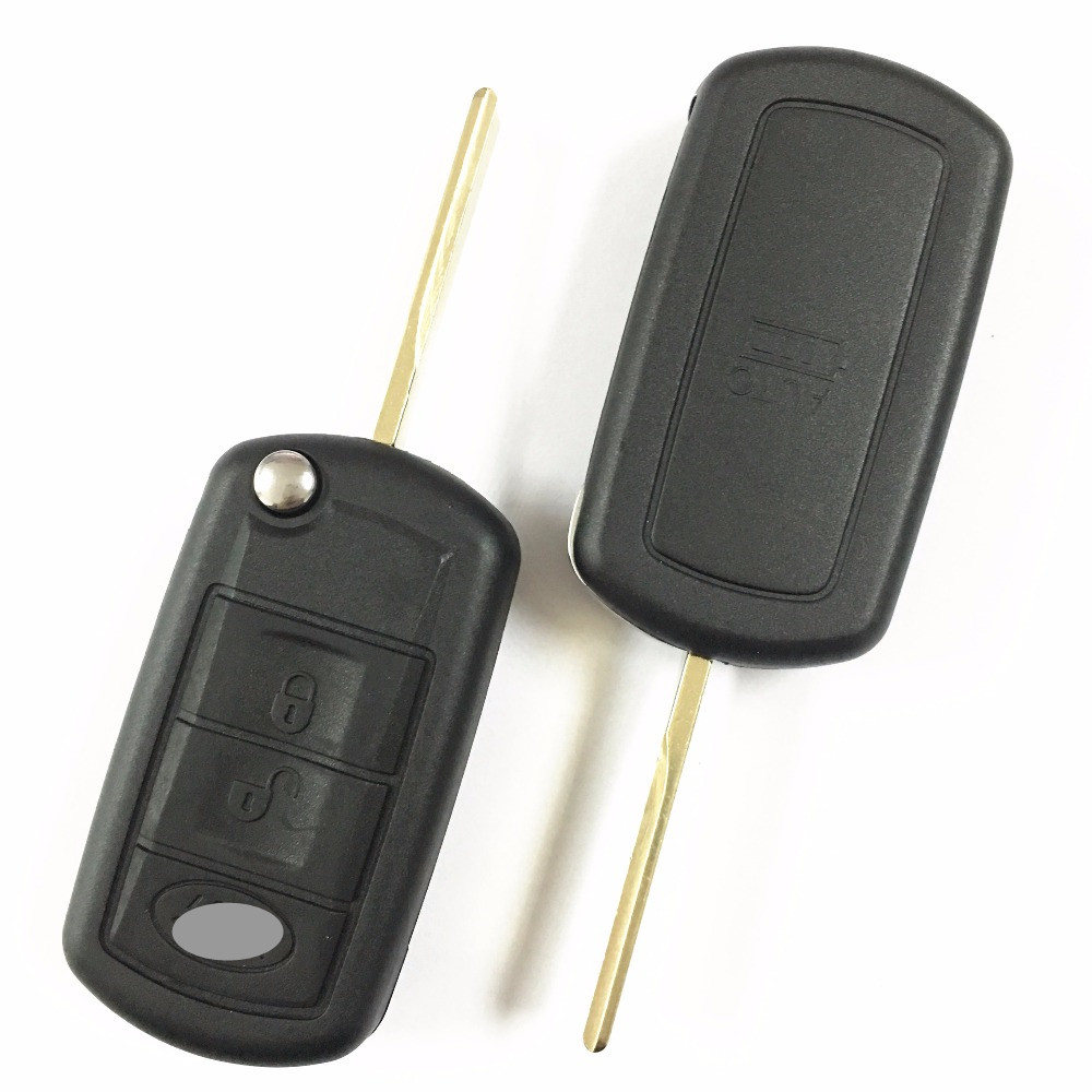 1pcs lots okeytech folding blade flip key blank car key fob shell for landrover range