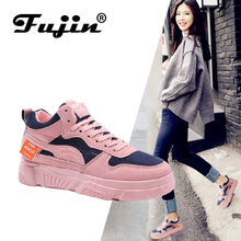 FUJIN brand women casual shoes flats sneakers spring autumn winter summer female lace up fashion for