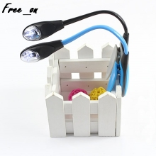 Flexible Clip-on Bright Booklight LED Travel Book Reading Lamp White Light