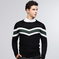 New Tide Brand Sleeve Sweater Business Casual Men's Sweater Fashion Long Sleeve Sweater Japanese All Match Men's Clothing