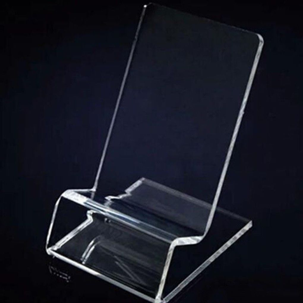 Clear Acrylic Phone Mount Holder Mini Portable Display Stand Rack Stand For Cell Phone Display