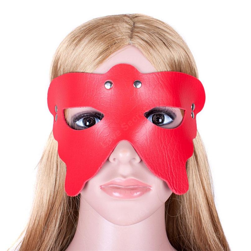 Buy Spider Blindfold Mask S&M PU Leather Bondage Restraints Erotic Toys Cosplay Eye Mask Woman Fetish Slave Adult Game Product