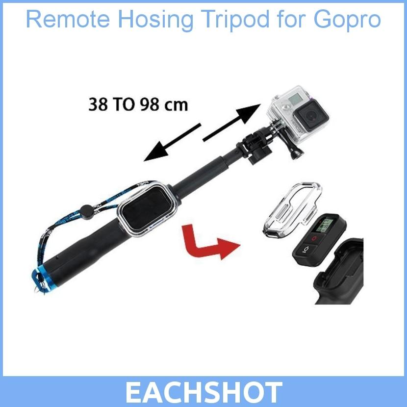 Poteau monopode de poche 98cm avec trépied de logement à distance WIFI pour gopro hero 3 3 + pour accessoires gopro hero 3