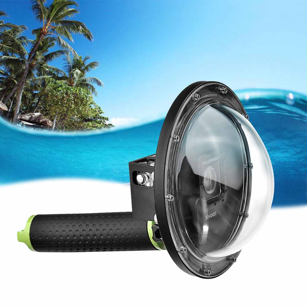 SHOOT 6 inch Diving Dome for Gopro Hero 7 5 6 4 Action Camera Waterproof Case Dome Port For Go Pro Hero 7 6 5 4 Go Pro Accessory shoot 45m diving waterproof case for gopro hero 7 6 5 black action camera underwater housing case for go pro hero 6 5 accessory