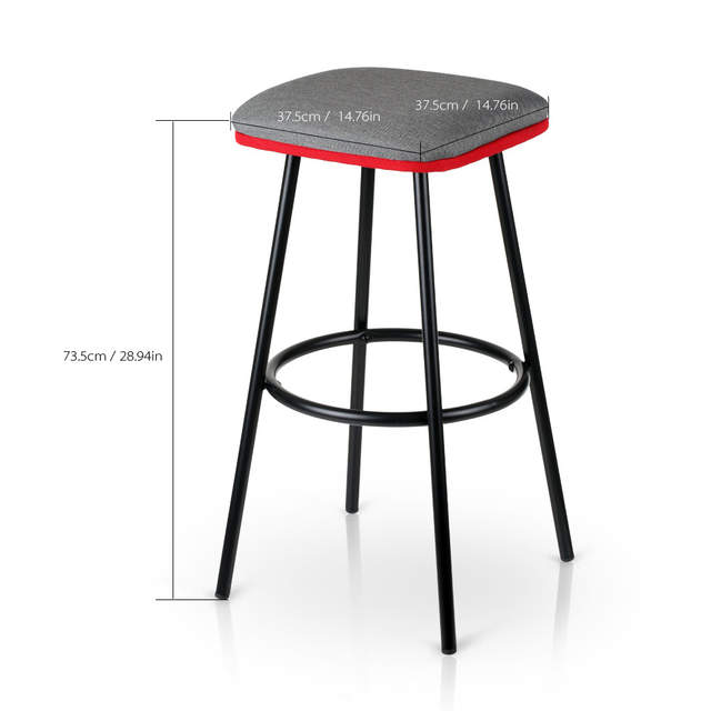 Awe Inspiring Ikayaa 2Pcs Modern Metal Bar Stools With Footrest Counter Creativecarmelina Interior Chair Design Creativecarmelinacom