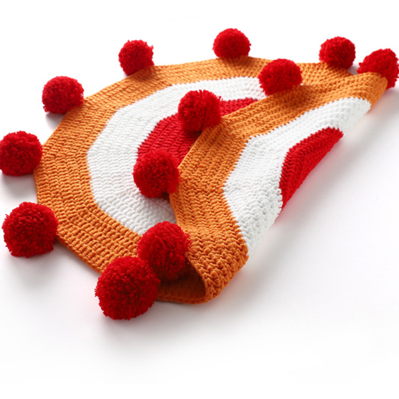 90cm Hot Selling Soft High Quality Hand-knitted baby gamemat Round ball Game Pad Newborn Crawling Play Mat Baby Room Decoration