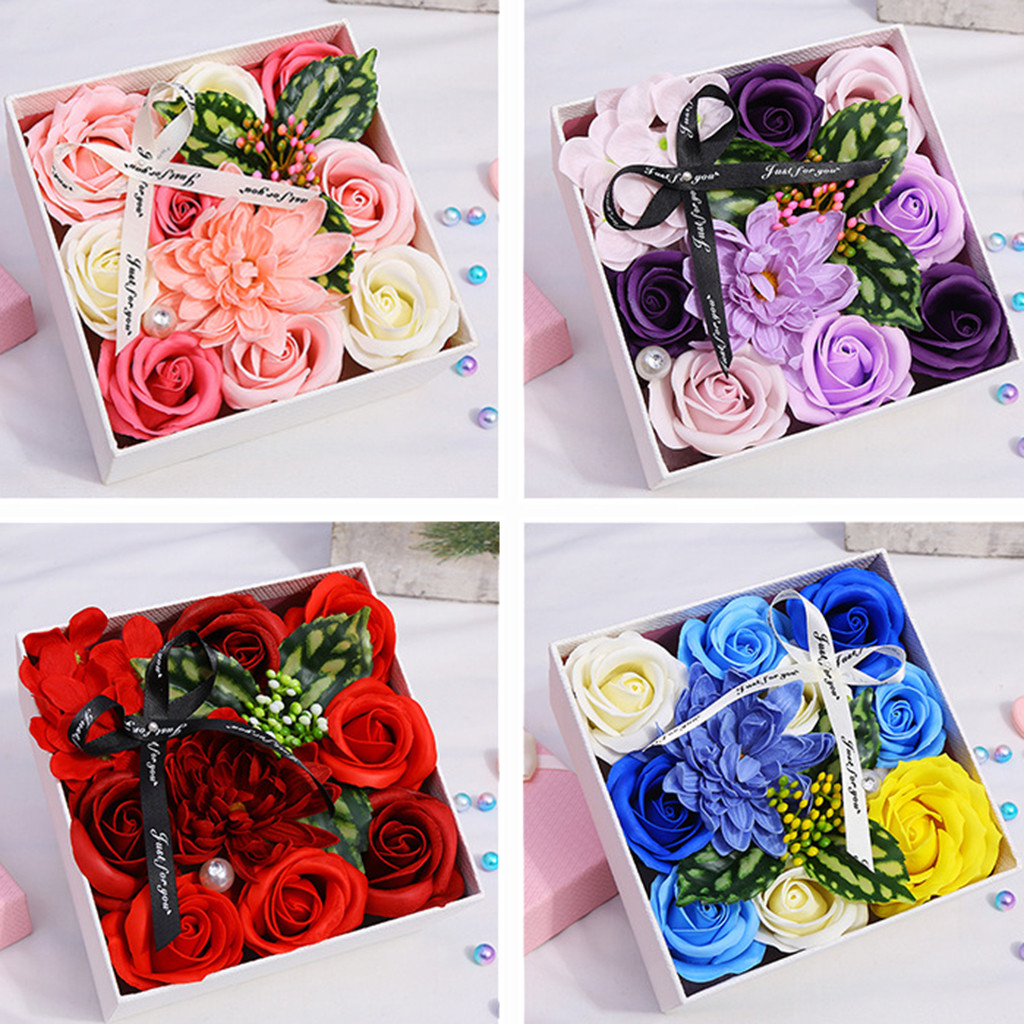 Mother's Day DIY Soap Flower Gift Rose Box Bouquet Wedding