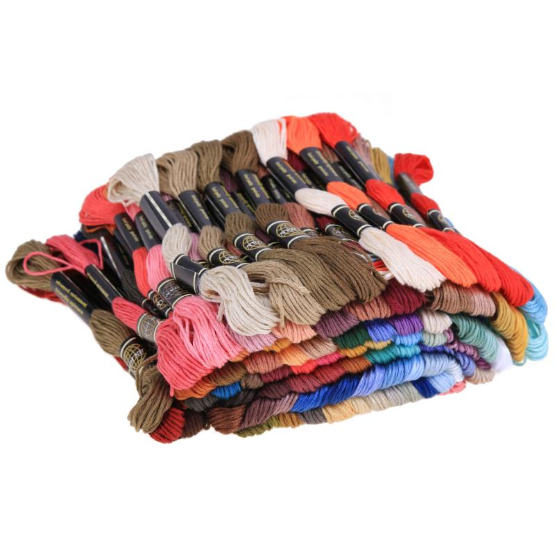Multi colors Polyester Cross Stitch Embroidery Skein Floss Sewing Skeins Craft Embroidery Threads
