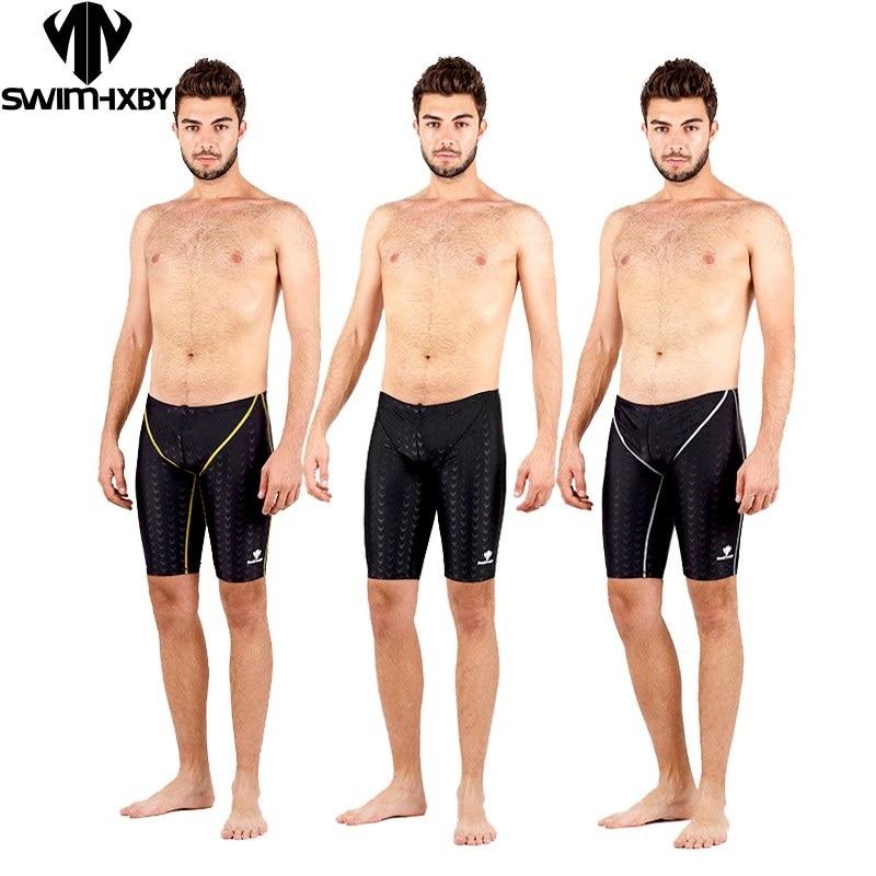 HXBY शार्कस्किन तैराकी जैमर पुरुष लड़के स्विमवीअर शॉर्ट्स ठोस जैमर स्विमसूट बोर्ड सर्फ शॉर्ट्स पेशेवर पुरुष प्लस आकार 5XL