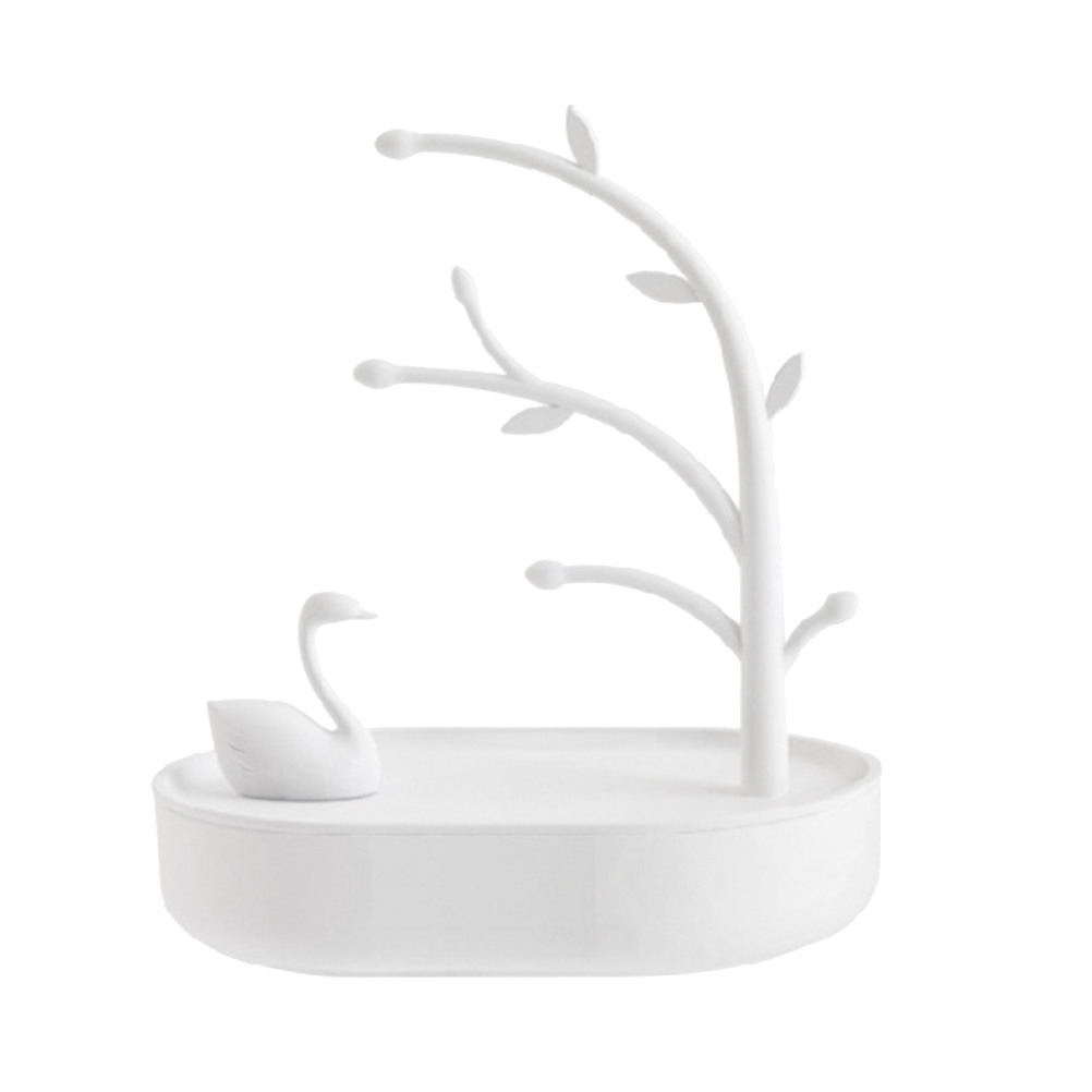 1pc Jewelry Stand Practical Swan Plastic Creative Durable Display Stand Jewelry Holder Storage Stand For Bracelet Necklace toilet seat