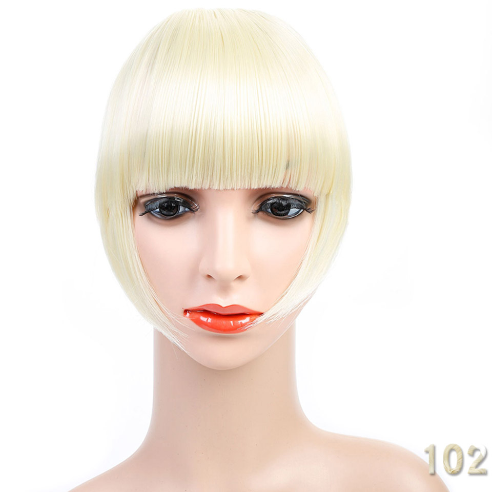 AOSI WIG Clip in bang fringe Hai Short Front Neat bangs straight ... 2501331ced4