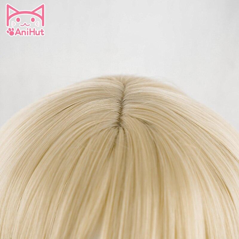 AniHut Rachel Gardner Wigs Anime Angels of Death Cosplay Wig  Synthetic 90 CM Blonde Women Hair Ray Angels of Death Cosplay Wig