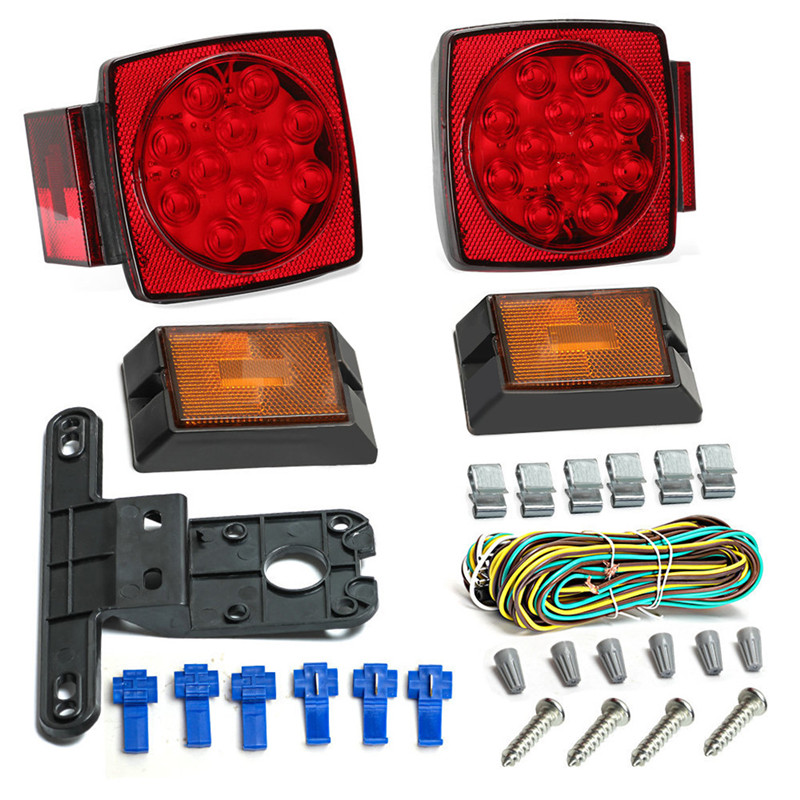 1 set 12V LED Light Kit Multi Function Tail Lights Submersible Signal Truck Trailer Boat 77 led lamps Stop Indicator Waterproof in Indicator Lights from Lights Lighting