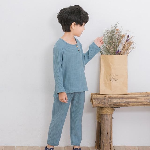 Koop 2017 kinderen jongens kleding sets lente zomer mode linnen geplooide baby - Set van jongens en meisjes ...