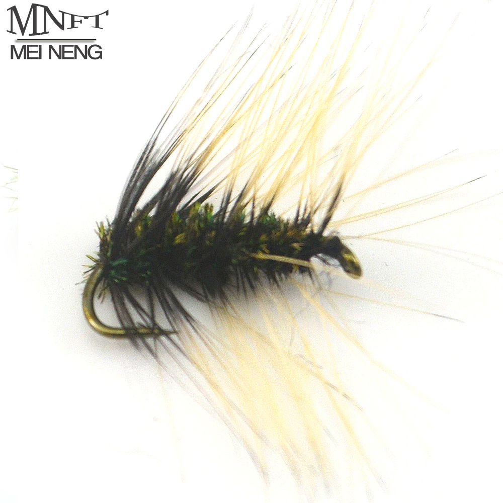все цены на MNFT 10PCS 10# Grey Griffith's Gnat mosquito Dry Fly Trout Pan Fish Blue Gill Bream Fishing Dry Flies онлайн