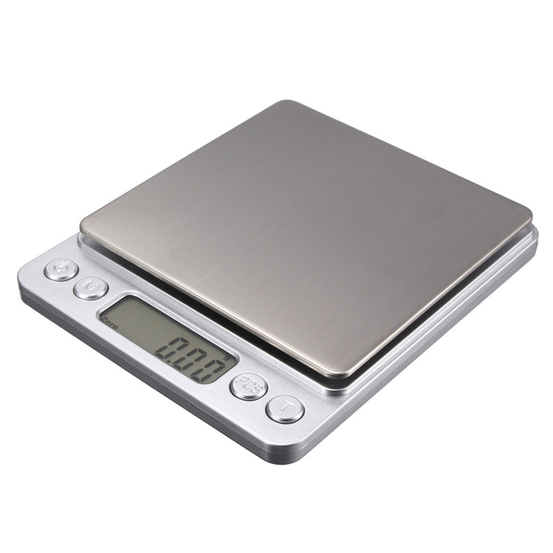 Electronic Kitchen Pockets Digital Scales Jewelry Gold Gram Balance Weight Scale with Salver 500g x 0.01g Free Shipping 50g 0 001g precision digital jewelry gem powder scales electronic diamond milligram scale bench weighing balance free shipping