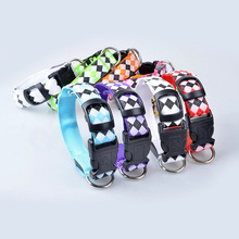 Night Safety Flashing Plaid Dog Collars
