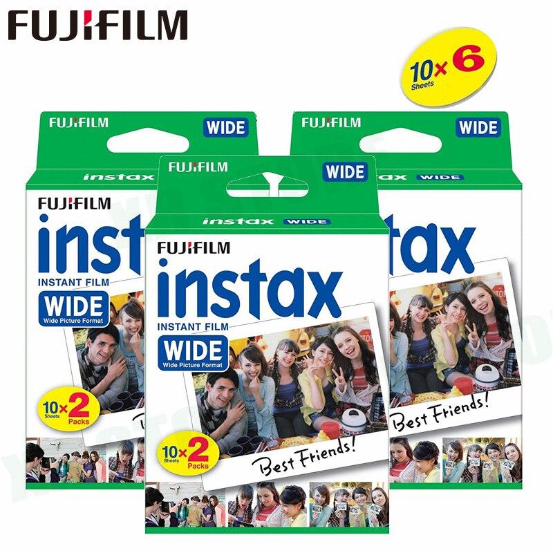 60 Films Fujifilm Instax Wide Blanc Instantané Bord Pour Fuji Caméra 100 200 210 300 500AF Lomography photo