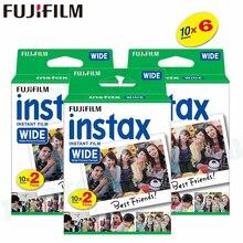 60 أفلام فوجي فيلم Instax واسعة الفورية الأبيض حافة ل فوجي كاميرا 100 200 210 300 500AF Lomography الصورة