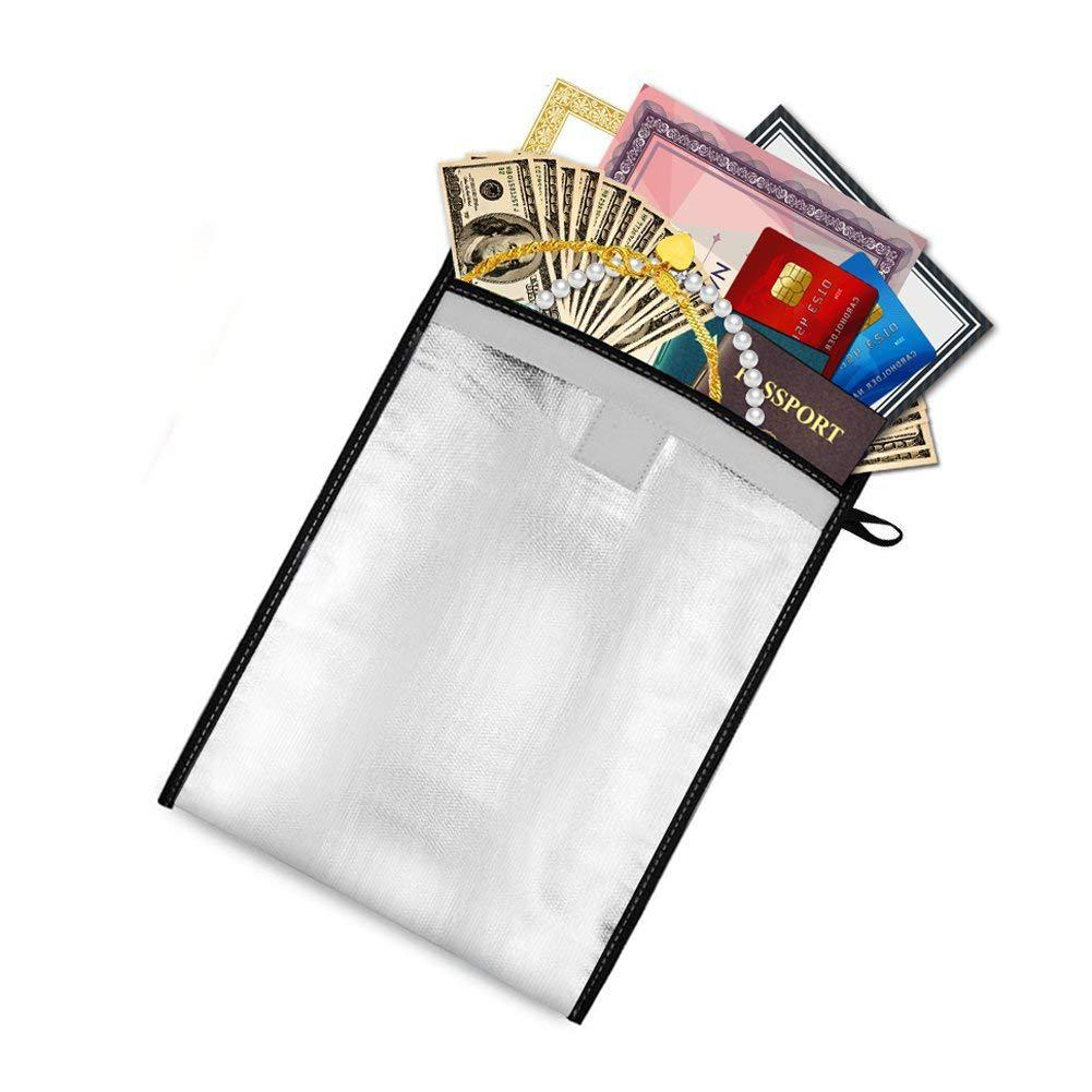 1pcs Two Sided Aluminum Foil Coated High Temperature Resistance Waterproof Fire-proof A4 File Document Bag D20
